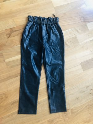 Suncoo Leather Trousers black