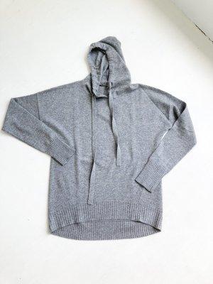 Sunday in Bed kuscheliger 100% Cashmere oversize Pullover Grau M 38 40 Onesize Sweater mit Kapuze