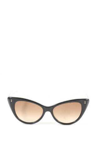 Sunday Somewhere Okulary motylki czarny-brązowy W stylu casual