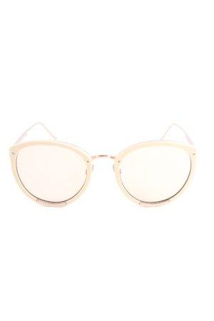 Sunday Somewhere Okulary motylki nude-w kolorze różowego złota Elegancki