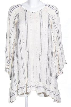 Sundress Blusenkleid weiß-silberfarben Punktemuster Casual-Look