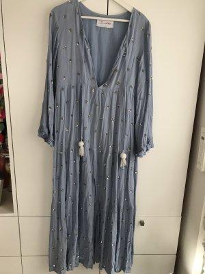 Sundress Kleid Jasmine neo blue Pailletten XS/S Turban Maxi Dress