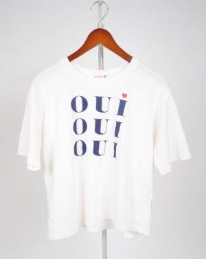 Anthropologie T-shirt biały Bawełna