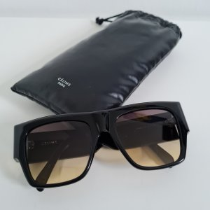 Celine Paris Angular Shaped Sunglasses black mixture fibre