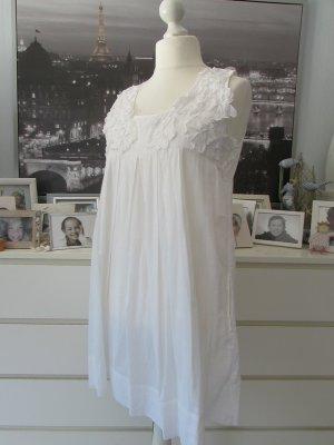 Sunichi by Impressionen * Süßes Sommerkleid Hängerchen * weiß 3D-Blüten shabby * 42