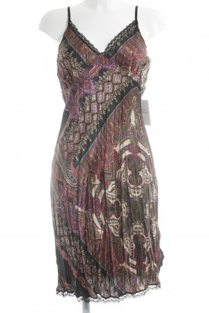 Sunichi schulterfreies Kleid abstraktes Muster Beach-Look