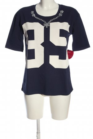 Sunichi Strickshirt blau-weiß Casual-Look
