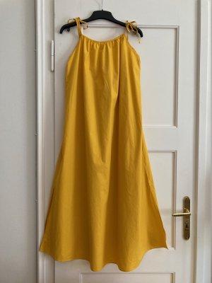 Monki Maxi abito giallo-oro Cotone