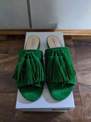 Fabienne Chapot Plateauzool Sandalen met Hoge Hakken groen