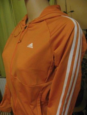 Adidas Sportjack licht Oranje-wit Gemengd weefsel