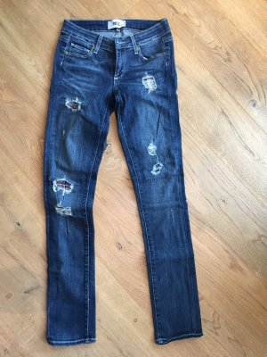 Paige Stretch jeans donkerblauw