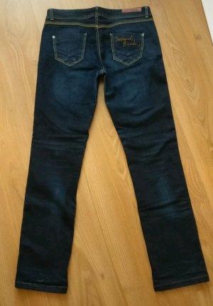 Super bequeme Jeans-Hose von Desigual, dunkelblau, gerader Schnitt, wie neu, W32 L32