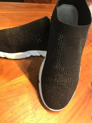 0039 Italy Slip-on Sneakers black-silver-colored