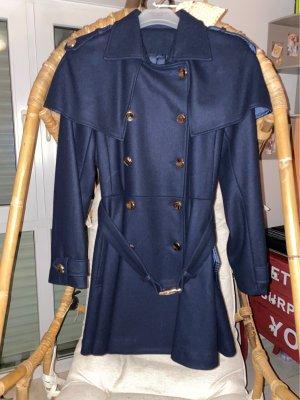 100% Fashion Abrigo de invierno azul oscuro-color oro
