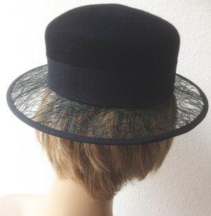 Chapeau en feutre noir laine