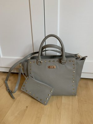 BCBG Handbag grey-silver-colored