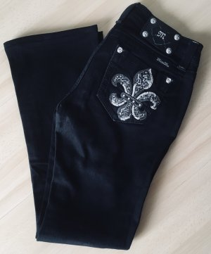 Miss Me Denim Flares black cotton