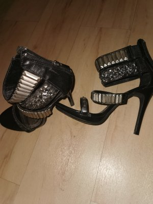 Anne Michelle High Heels black-silver-colored