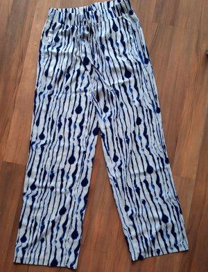 H&M Spodnie Marlena biały-niebieski