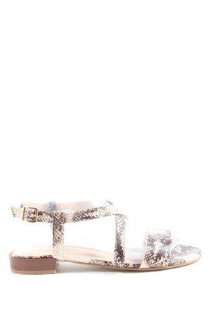 super cracks Comfort Sandals brown-natural white allover print casual look