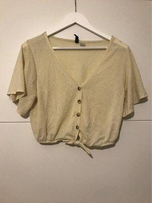 H&M Divided T-shirt court jaune-jaune clair