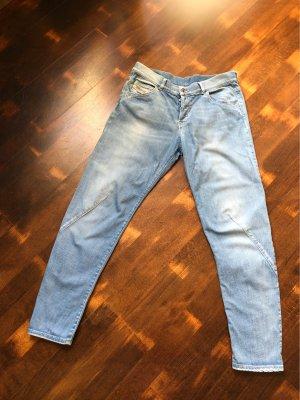 Diesel Industry Wortel jeans azuur