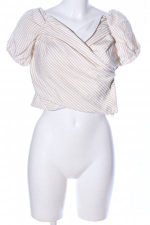 super down Carmen-Bluse creme-weiß Streifenmuster Casual-Look