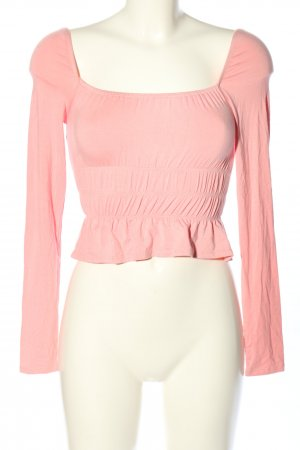 super down Cropped Shirt pink Casual-Look