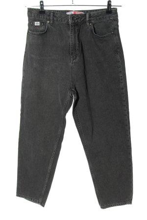 SUPER DRY Jeans 7/8 noir moucheté style décontracté