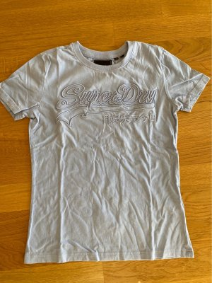 Super dry Basic Shirt in babyblau