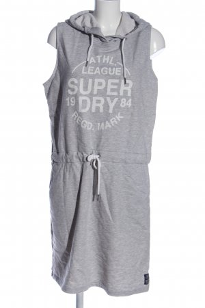 SUPER DRY Hooded Dress light grey flecked casual look