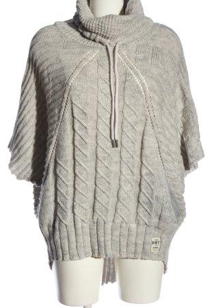 SUPER DRY Maglione a maniche corte grigio chiaro punto treccia stile casual