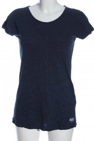 SUPER DRY Muscle Shirt blue flecked casual look