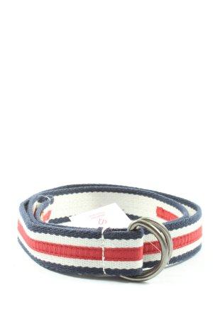 SUPER DRY Cinturón de tela estampado a rayas look casual