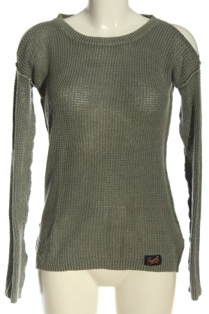 SUPER DRY Strickpullover khaki Webmuster Casual-Look
