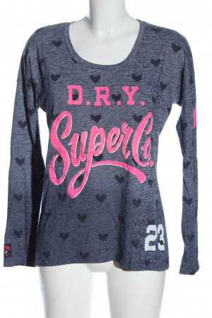 SUPER DRY Strickpullover meliert Casual-Look