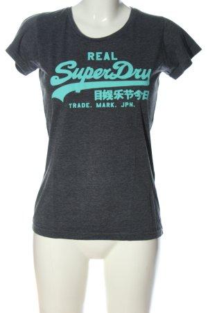 SUPER DRY T-Shirt hellgrau meliert Casual-Look