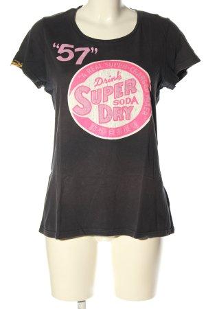 SUPER DRY T-Shirt Schriftzug gedruckt Casual-Look