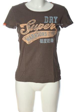 SUPER DRY T-Shirt Motivdruck Casual-Look