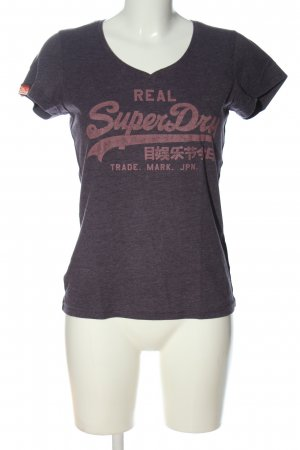 SUPER DRY T-Shirt lila-pink meliert Casual-Look