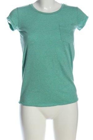 SUPER DRY T-Shirt grün meliert Casual-Look