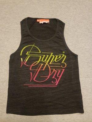 Super Dry Top T-Shirt Xs Grau Sport Casual-look