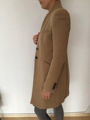 Zara Woman Manteau en laine beige-chameau