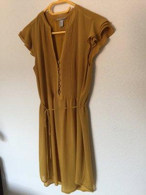 Super Farbe! Curry Kleid Blusenkleid H&M Neuwertig Gr. 40