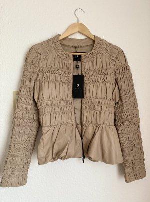 Super Fashion Lederjacke beige gr. 38 / M