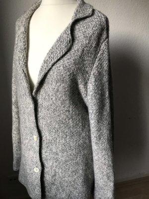 Peter Hahn Blazer in maglia grigio chiaro-bianco Cachemire
