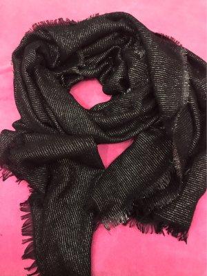 0039 Italy Écharpe d'été noir-argenté coton