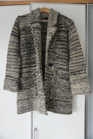 Veste tricotée en grosses mailles multicolore