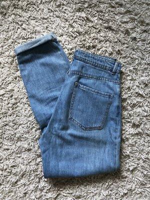 Bershka High Waist Jeans cornflower blue