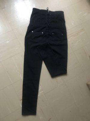 By Sasha Jeans a vita alta nero